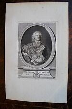 MELCHIOR CARDINAL DE POLIGNAC . PORTRAIT, GRAVURE ORIGINALE , 1760