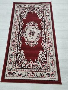 Quality Rug RED BEIGE 80 x 150 cm Soft Touch Living Room Turkish Carpet Rugs