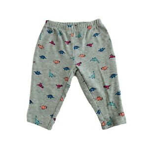 Carter's Baby Girl 6 Months Grey Multicolor Dinosaurs Pull On Pants