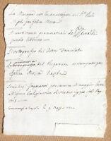 Antico documento manoscritto 1730