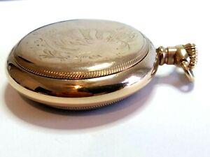 "Not scrap 18 size ""67+ grams"" Gold Filled ""Premier"" open face pocket watch case."