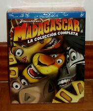 MADAGASCAR-LA COLECCION COMPLETA-PACK 3 BLU-RAY-NUEVO-PRECINTADO-NEW-SEALED