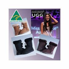 Australia Made SHEARERS UGGS Women Wool Sheepskin Short Ugg Boots - Pom Pom