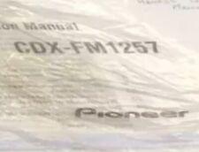 Pioneer Cdx Fm 1257 / 12 Disk Holder & Remote