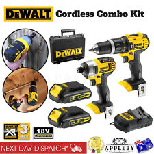 Dewalt Cordless 18V Impact Driver & Hammer Drill Tool Set w/ Battery & Charger