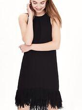 Nwt banana republic fringe hem black hi lo  Dress 6 tall soldout sleeveless
