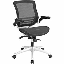 All Mesh Office Chair with Flip-Up Armrest Perfect for Computer Desks (Black)