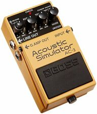 New! BOSS AC-3 Acoustic Simulator Compact Pedal Guitar Effector from Japan!