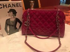 Chanel Mademoiselle handbag Fushia Patent Leather new with tags!