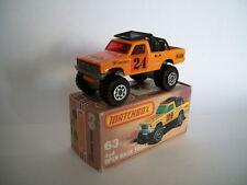 Matchbox Superfast 13d/63f 4x4 Open Back Truck orange   mit OVP