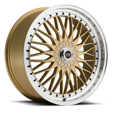 NEW (set of 4) 18X7.5 SPEC-1 style # 3S rims 4x100 4x114.3 +38 gold finish