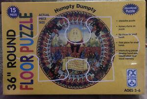 "Vintage 36"" Humpty Dumpty-FX Schmid-15pc.-Circular Jigsaw puzzle-circular Sealed"