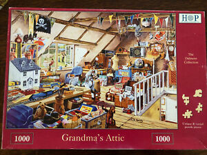 House Of Puzzles HOP 1000 Piece Jigsaw Puzzle Grandma's Attic Completed Once 🧩