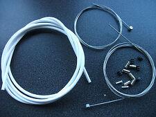 2 M 5 mm Jagwire L3 Blanc Slick intérieur/extérieur Frein Câbles + DONUTS & embouts