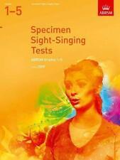 ABRSM Specimen Sight Singing Tests, Grade 1-5 - Same Day P+P