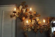 Antique Italian Wall Light Sconces-PAIR
