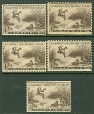 EDW1949SELL : USA 1942 Scott #RW9. 5 stamps. Mint No Gum. All Sound. Retail