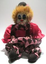 Clown doll with porcelain head 25 cm With standard