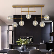 Office Bubble Glass Ceiling Lamp LED Chandelier Modern Pendent Light Fixture