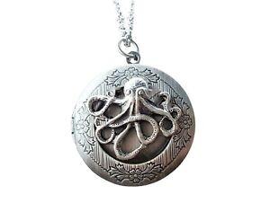 Handmade Octopus Locket Necklace