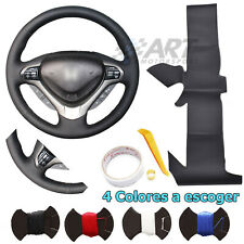 Cover Steering Wheel Custom for Honda Accord 08-12 Leather Black Smooth+Drilled