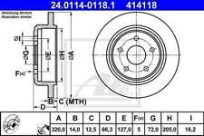 1X BRAKE DISC ATE - TEVES 24.0114-0118.1