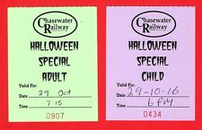 Chasewater Railway Tickets ~ Halloween Special: Adult & Child: 2016