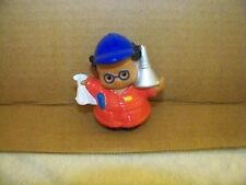Fisher Price Little People Mechanic Black Hair Glasses Red Shirt Blue Hat 2006