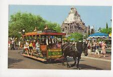 Disneyland Horse Drawn Streetcar USA Postcard 179b