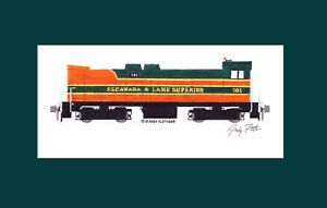 """Escanaba & Lake Superior DS44-660 #101 11""""x17"""" Matted Print Andy Fletcher signed"""