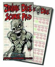 Zombie Dice Score Pad - Accessorio per il Gioco di Dadi Horror - New, English