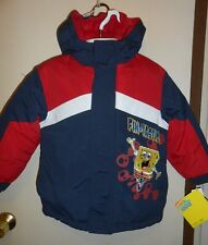 "Nickelodeon SpongeBob Squarepants ""Fin-tastic"" Boys Hooded Winter Jacket Blue 3T"