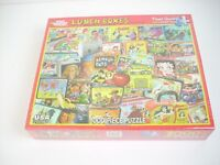 """""""Lunch Boxes"""" Art Puzzle 24"""" x 30"""" White Mountain 1,000 Piece USA  New Sealed"""