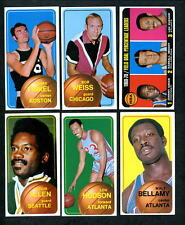 1970 Topps Basketball Lot of Different 119 cards mostly EX+ to EX/MT+ cond