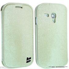 Samsung Galaxy S3 Mini I8190 Cuero Funda Protectora Flip Cartera Bolsa Trasera Siii + Sp