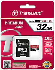 TRANSCEND MICRO SD 32GB CLASSE 10 CLASS MICROSD SDHC SCHEDA DI MEMORIA CARD