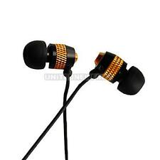 UN3F Golden 3.5MM Stereo Inear Earphone for iPhone MP3 MP4