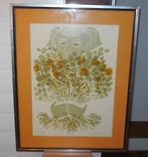 "David Weidman Signed and Numbered ""Bouquet"" Nicely framed & matted 60/450 1974"
