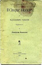 Alessandro Manzoni # IL CINQUE MAGGIO # Frattarolo 1902 - F.Rodriguez