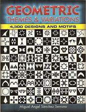 Geometric Themes & Variations - 4,300 Black-and-White Designs & Motifs NEW PB