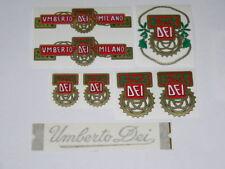 kit stickers adesivi per bici vintage ( UMBERTO DEI ) 8 pezzi