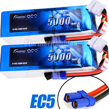 NEW (2) Gens ace LiPo Battery Packs 5000mAh 45C 6S 22.2V EC5 500 600 MIKADO