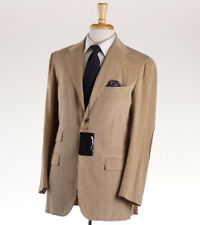 NWT $7495 KITON Cotton-Cashmere Corduroy Suit with Suede Elbow Patches 38 R