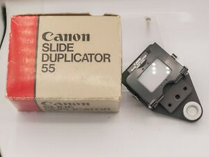 Mint Boxed - Canon 35mm Film Slide Duplicator 55 For FD Macro Bellows