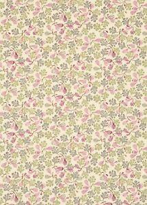 Rare Emma Bridgewater Figs Pink / Moss Fabric L: 60cm x W: 140cm 100% Cotton