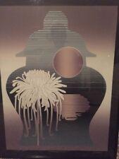 Vtg Karl Eisler Serigraph Signed Limited Edition Retro 1984 80's Chrysanthemum