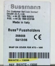 BK/HTC-150M BUSSMAN ACCY COVER SNAP-ON FOR HTC-10M 20 PIECES