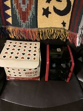 Vintage Arrco Black & Red Playing Card Shuffler Battery Operated w/Box
