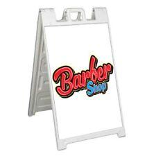 Barber Shop Signicade 24x36 Aframe Sidewalk Sign Banner Decal Haircut Salon Comb