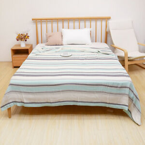 Blanket four layers Pure bamboo fiber quilt summer breathable cool bed cover set